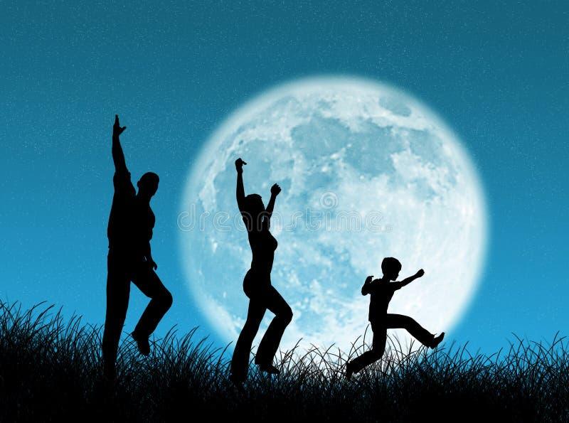 οικογενειακό φεγγάρι απεικόνιση αποθεμάτων