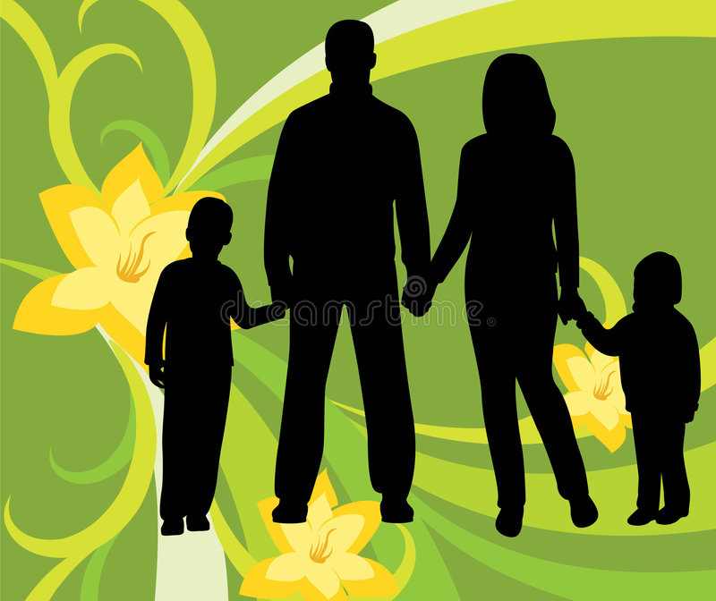 οικογενειακό floral διάνυσμ&al ελεύθερη απεικόνιση δικαιώματος