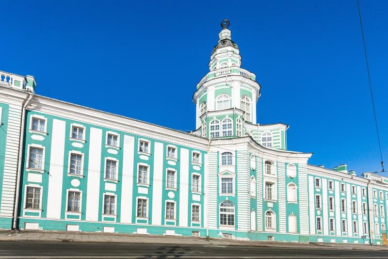 Οικοδόμημα Kunstkamera στην πόλη της Αγία Πετρούπολης στοκ φωτογραφία