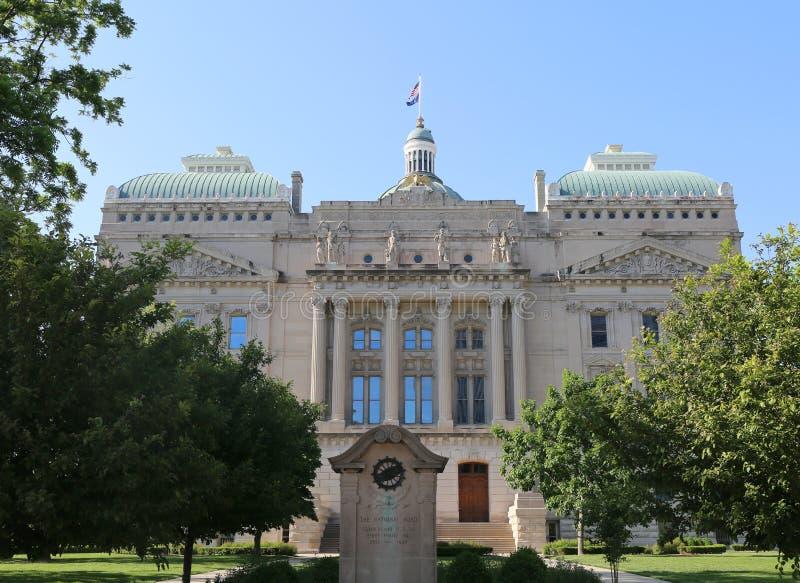 Οικοδόμηση κρατικού Capitol της Ιντιάνα της Ινδιανάπολης στοκ εικόνες