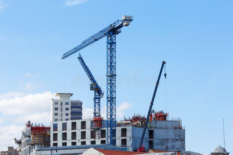 Οικοδόμηση κτηρίου στην Αβάνα Κούβα στοκ εικόνες