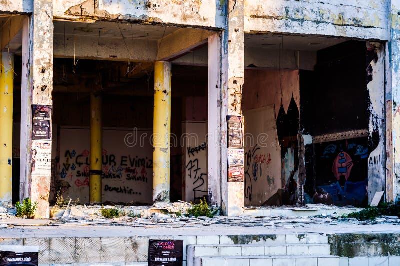 Οικοδόμηση κτηρίου Desolated - Τουρκία στοκ φωτογραφίες