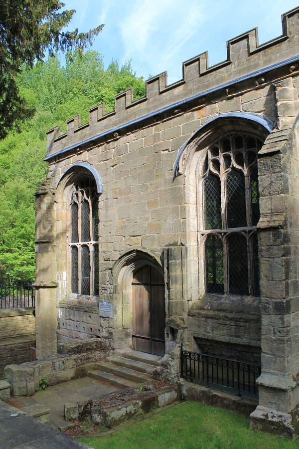 Οικοδόμηση παρεκκλησιών του ST Winefride κοντά επάνω, Ουαλία, UK στοκ φωτογραφία με δικαίωμα ελεύθερης χρήσης