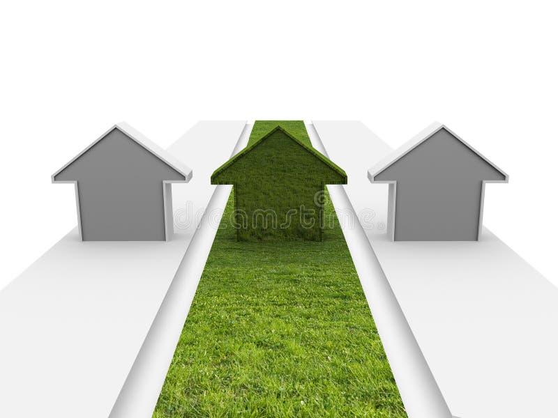 οικοδόμηση πράσινη διανυσματική απεικόνιση