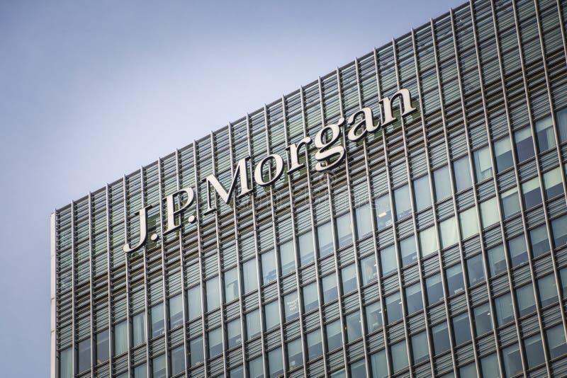 Οικοδόμηση της JP Morgan, Canary Wharf στοκ φωτογραφίες με δικαίωμα ελεύθερης χρήσης
