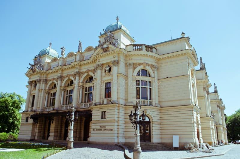 Οικοδόμηση του θεάτρου Juliusz Slowacki στην Κρακοβία, Πολωνία στοκ φωτογραφίες με δικαίωμα ελεύθερης χρήσης