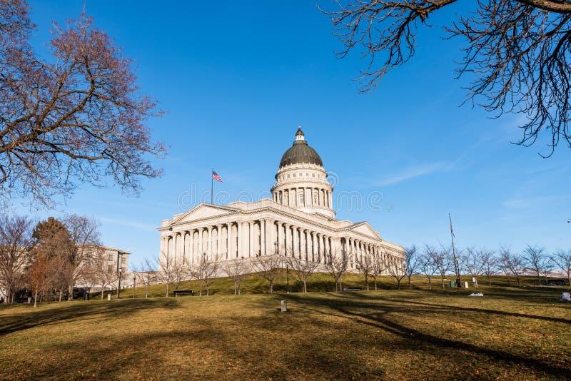 Οικοδόμηση του κράτους Capitol της Γιούτα στη Σωλτ Λέικ Σίτυ στοκ εικόνες