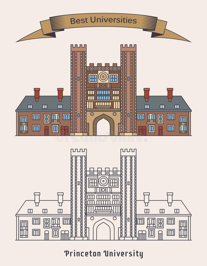 Οικοδόμηση του Πανεπιστήμιο του Princeton Εκπαίδευση απεικόνιση αποθεμάτων