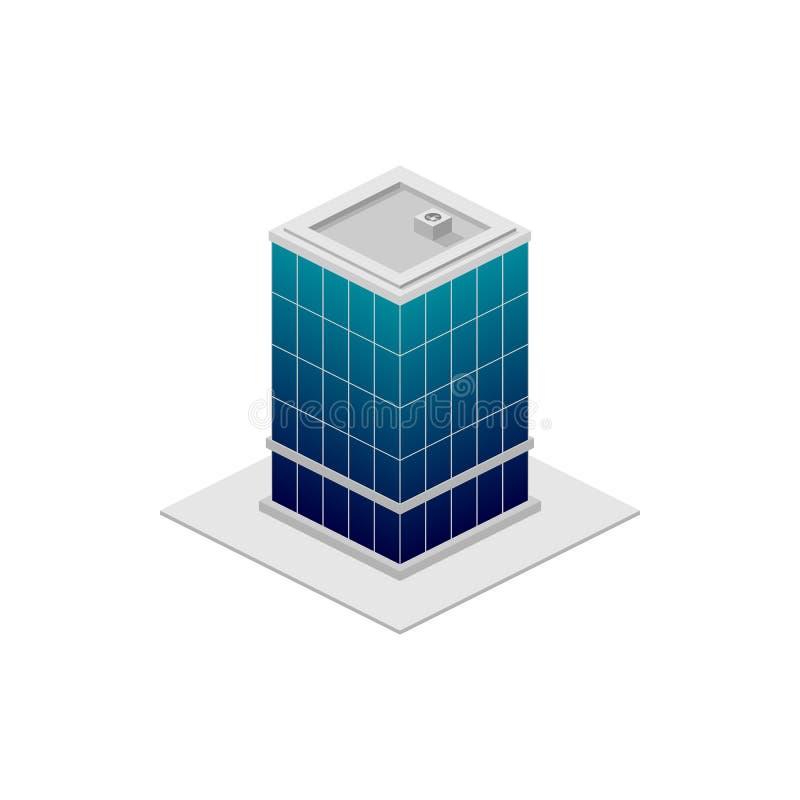 οικοδόμηση isometric Στοιχείο του εικονιδίου οικοδόμησης χρώματος για την κινητούς έννοια και τον Ιστό apps Το λεπτομερές isometr ελεύθερη απεικόνιση δικαιώματος