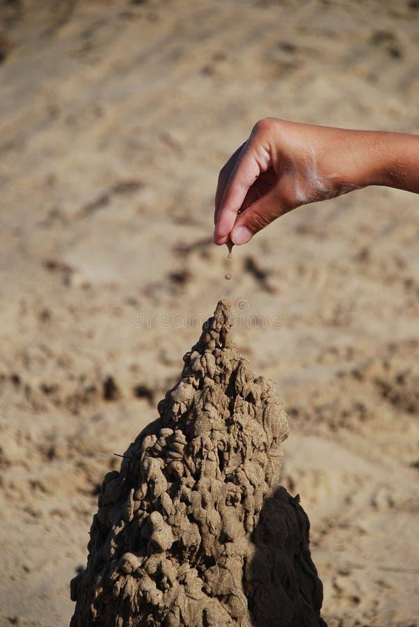 οικοδόμηση sandcastle στοκ εικόνες