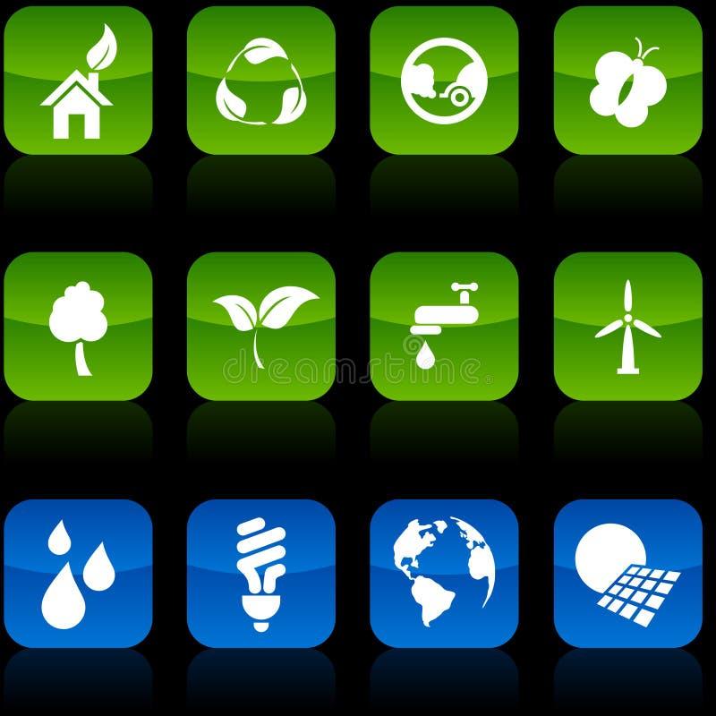 οικολογία κουμπιών ελεύθερη απεικόνιση δικαιώματος
