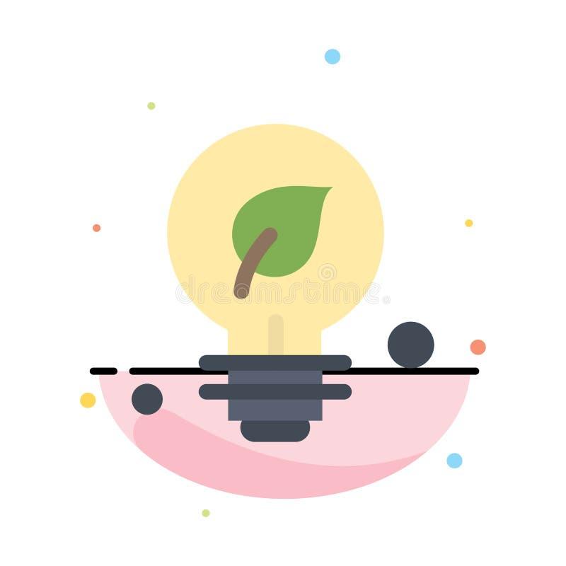 Οικολογία, περιβάλλον, πράσινος, αφηρημένο επίπεδο πρότυπο εικονιδίων χρώματος ιδέας ελεύθερη απεικόνιση δικαιώματος