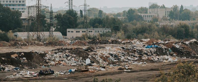 Οικολογία ρύπανσης πόλεων ναυπηγείων παλιοπραγμάτων απορριμάτων απορριμμάτων στοκ εικόνες με δικαίωμα ελεύθερης χρήσης