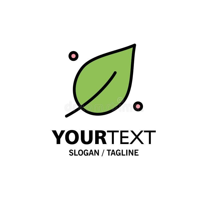Οικολογία, φύλλο, φύση, πρότυπο επιχειρησιακών λογότυπων ανοίξεων Επίπεδο χρώμα διανυσματική απεικόνιση