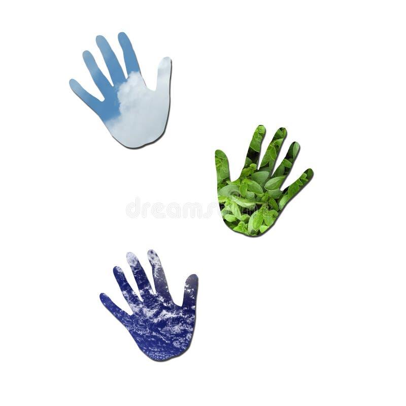 Download οικολογικά handprints απεικόνιση αποθεμάτων. εικονογραφία από οδηγίες - 13190283