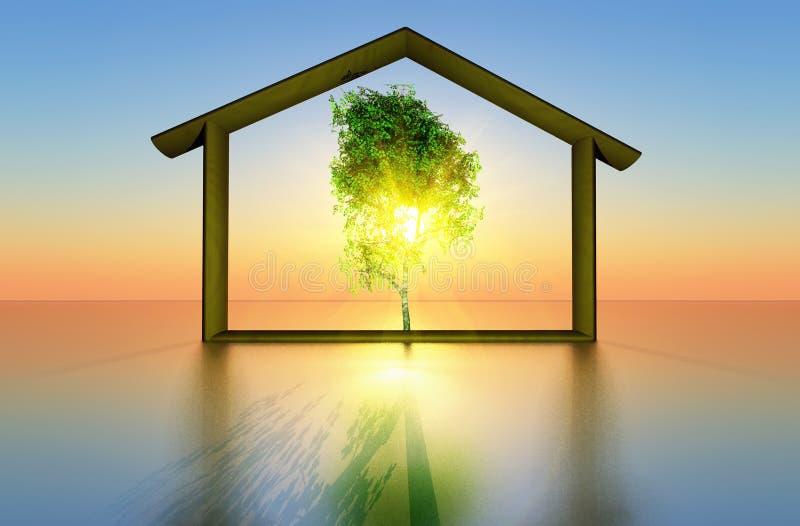 οικολογικό σπίτι απεικόνιση αποθεμάτων