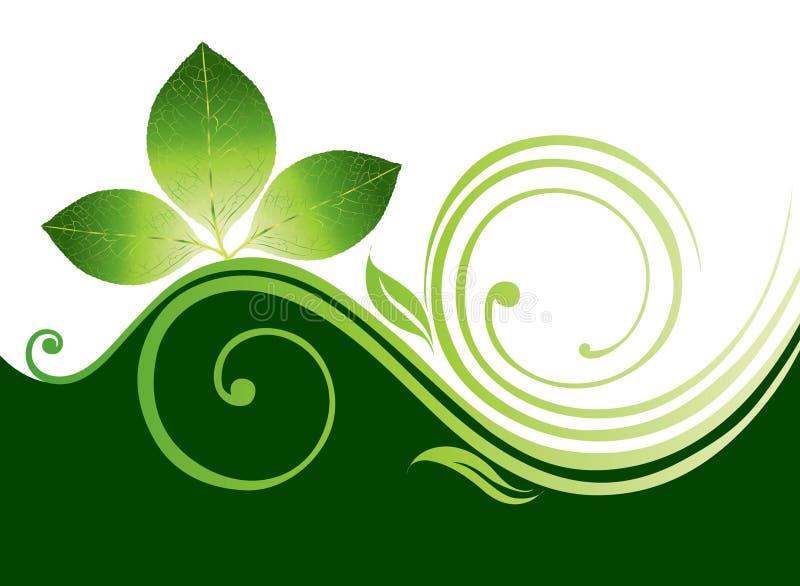 οικολογικό symbolics flayer διανυσματική απεικόνιση