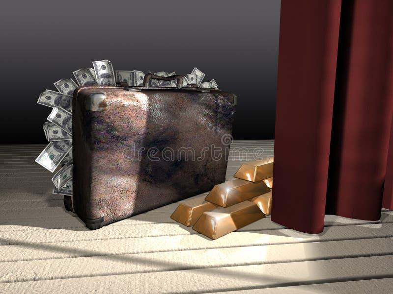 οικονομία που κρύβεται διανυσματική απεικόνιση