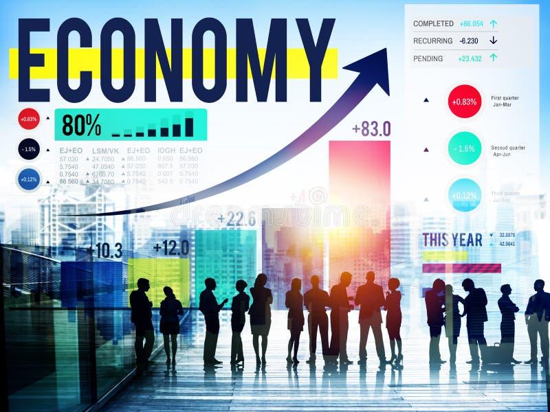 Οικονομία που λογαριάζει την οικονομική έννοια χρημάτων επένδυσης στοκ φωτογραφία