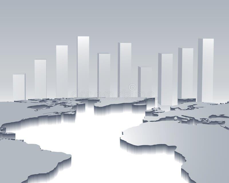 οικονομία σφαιρική διανυσματική απεικόνιση