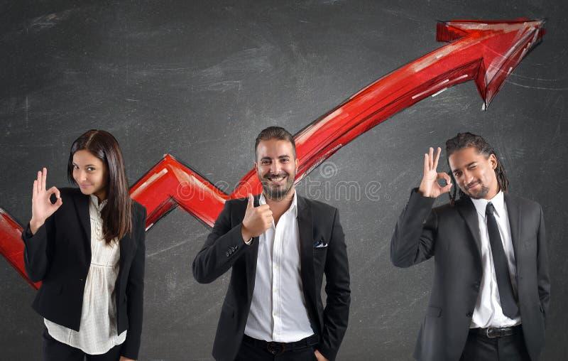 Οικονομικά κέρδη Businessperson στοκ εικόνες