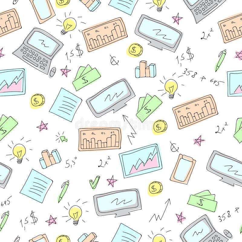 Οικονομικά και επιχειρησιακά σύμβολα απεικόνιση αποθεμάτων