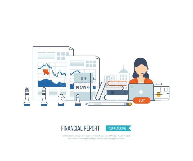 Οικονομικές έκθεση, διαβούλευση, ομαδική εργασία, διαχείριση του προγράμματος και ανάπτυξη Επιχείρηση επένδυσης απεικόνιση αποθεμάτων