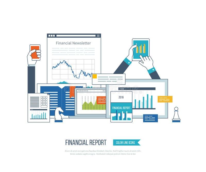 Οικονομικές έκθεση, διαβούλευση, ομαδική εργασία, διαχείριση του προγράμματος και ανάπτυξη Επιχείρηση επένδυσης ελεύθερη απεικόνιση δικαιώματος