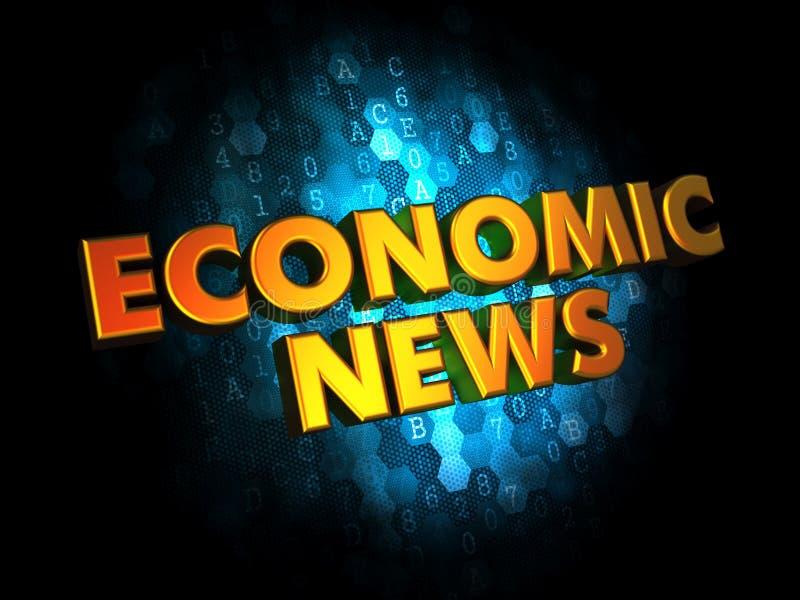 Οικονομικές ειδήσεις - χρυσές τρισδιάστατες λέξεις ελεύθερη απεικόνιση δικαιώματος