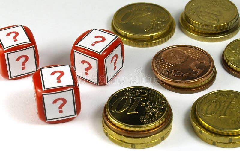 Οικονομικές ερωτήσεις στοκ φωτογραφία με δικαίωμα ελεύθερης χρήσης