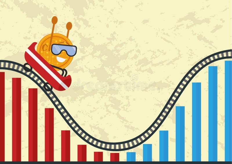 Οικονομικές κύκλος ή αλλαγές στα χρηματιστήρια στοκ εικόνες