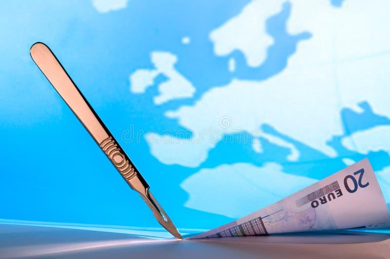Οικονομικές περικοπές στην Ευρώπη στοκ εικόνες με δικαίωμα ελεύθερης χρήσης