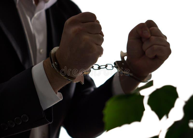 Οικονομική έννοια απάτης Επιχειρηματίας, πολιτικός ή άτομο στοκ εικόνες