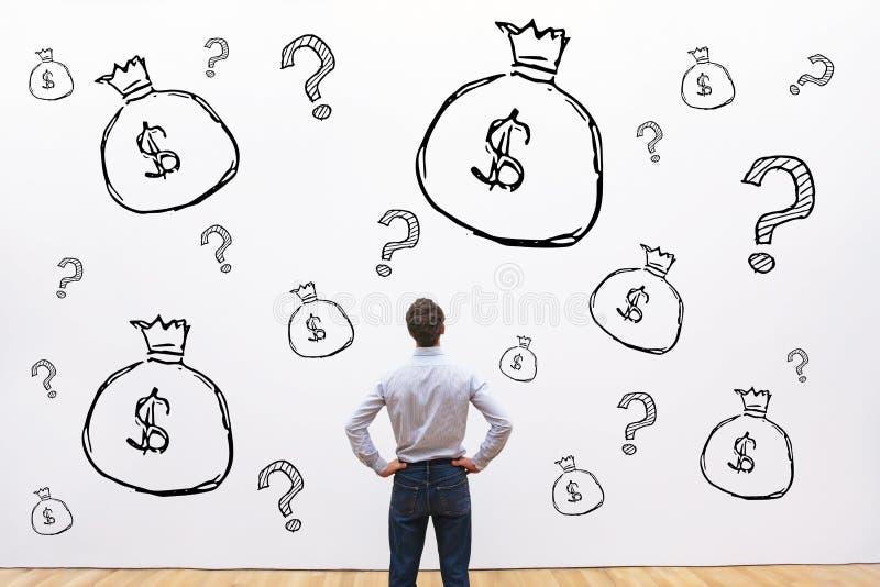 Οικονομική έννοια πίστωσης, επένδυσης ή ερανικού, χρήματα στοκ εικόνες