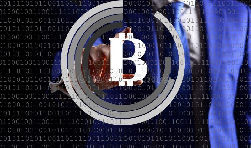 Οικονομική έννοια τεχνολογίας, bitcoin cryptocurrency στοκ φωτογραφία με δικαίωμα ελεύθερης χρήσης