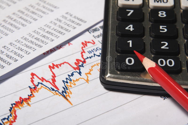 Οικονομική ή έννοια λογιστικής στοκ εικόνες