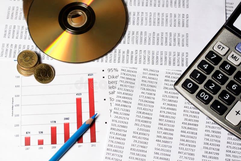 Οικονομική ή έννοια λογιστικής στοκ φωτογραφία