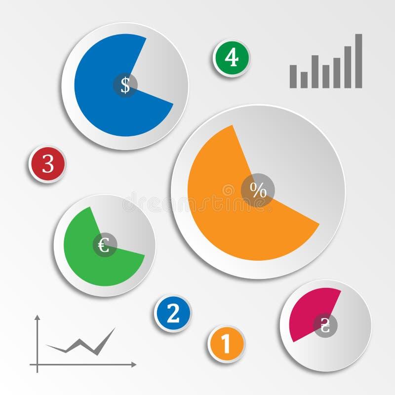 Οικονομική αποκατάσταση Infographics διανυσματική απεικόνιση