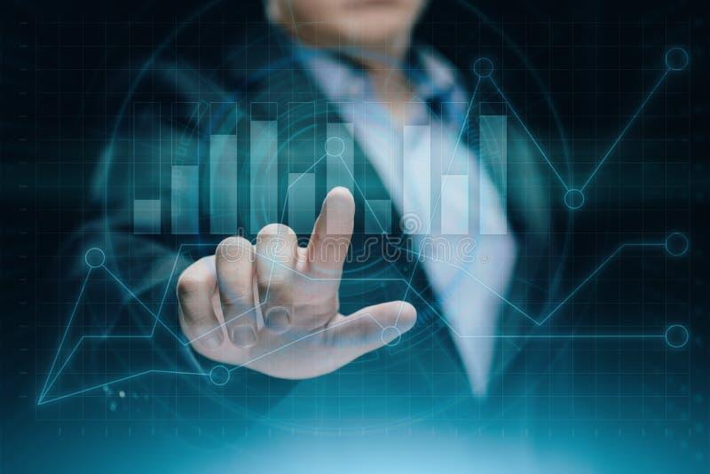 Οικονομική γραφική παράσταση Διάγραμμα χρηματιστηρίου Έννοια τεχνολογίας επιχειρησιακού Διαδικτύου επένδυσης Forex στοκ εικόνες