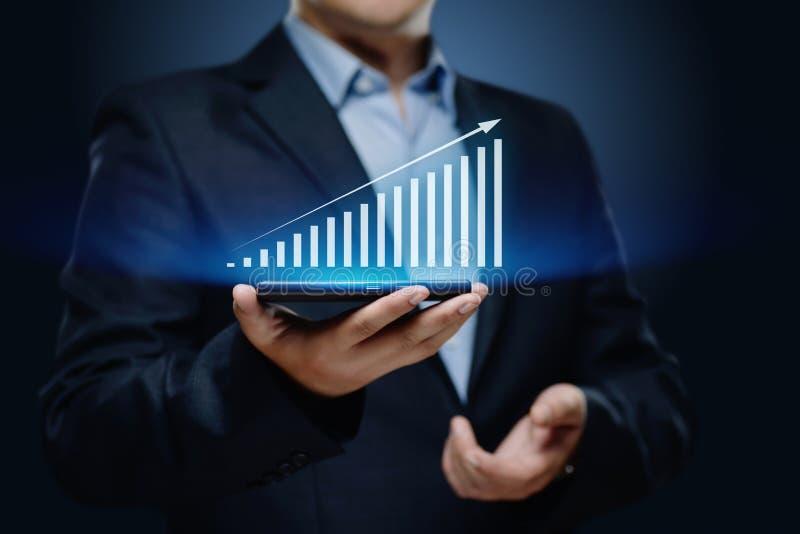 Οικονομική γραφική παράσταση Διάγραμμα χρηματιστηρίου Έννοια τεχνολογίας επιχειρησιακού Διαδικτύου επένδυσης Forex στοκ φωτογραφίες με δικαίωμα ελεύθερης χρήσης