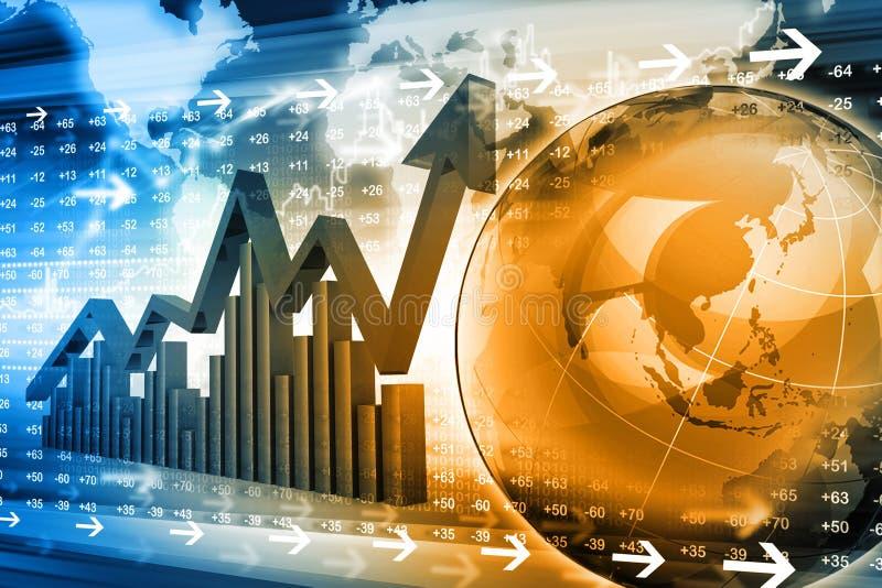 Οικονομική γραφική παράσταση χρηματιστηρίου απεικόνιση αποθεμάτων