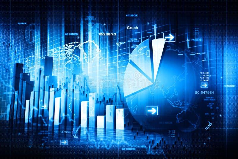 Οικονομική γραφική παράσταση χρηματιστηρίου στοκ εικόνα