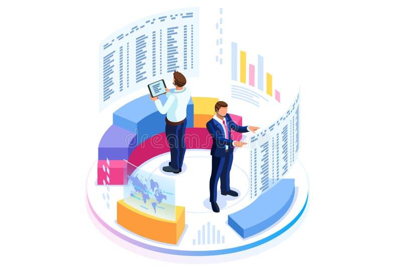 Οικονομική διαβούλευση για το επιχειρησιακό έμβλημα διανυσματική απεικόνιση