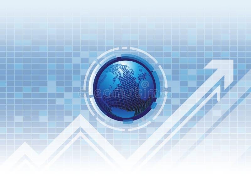 Οικονομική επιτυχία τεχνολογίας διανυσματική απεικόνιση