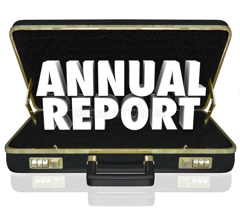 Οικονομική κατάσταση λέξεων χαρτοφυλάκων ετήσια εκθέσεων διανυσματική απεικόνιση