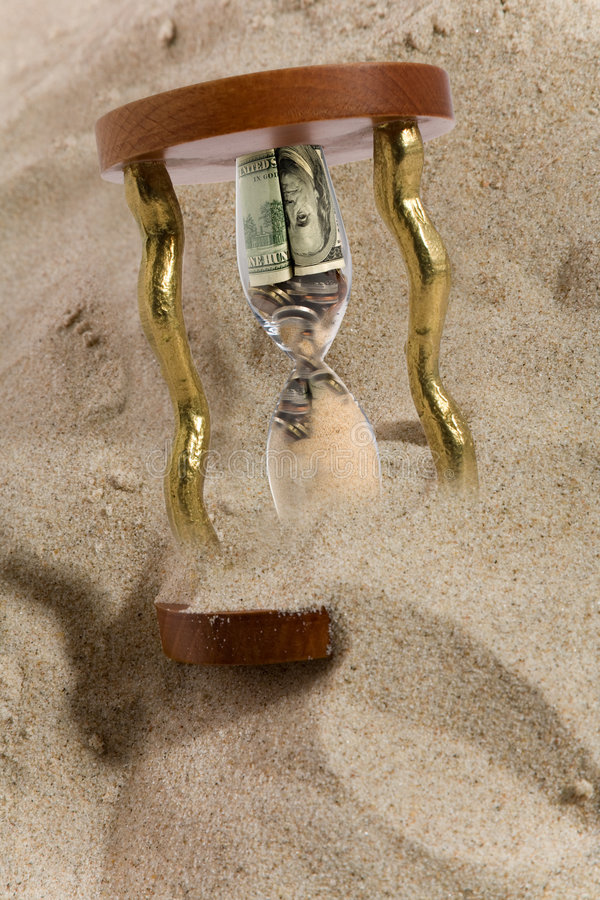 οικονομική κλεψύδρα κρί&sig στοκ εικόνα με δικαίωμα ελεύθερης χρήσης