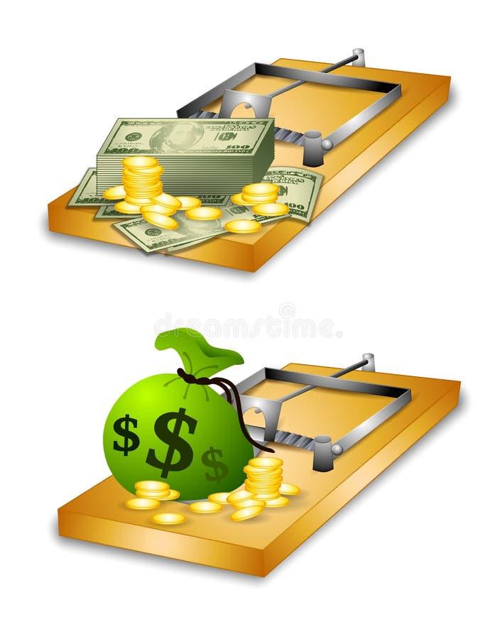 οικονομική παγίδα χρημάτων διανυσματική απεικόνιση