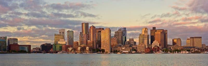 Οικονομική περιοχή και λιμάνι στη Βοστώνη, ΗΠΑ στοκ εικόνα με δικαίωμα ελεύθερης χρήσης