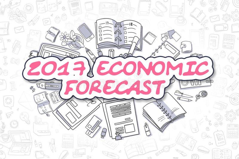 2017 οικονομική πρόβλεψη - επιχειρησιακή έννοια διανυσματική απεικόνιση