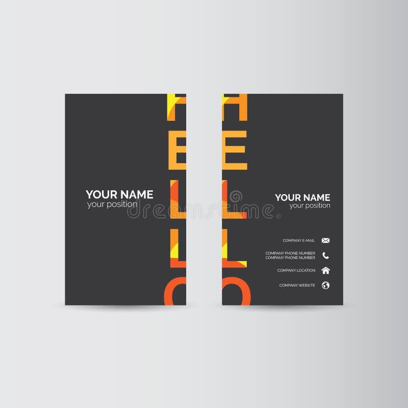 οικονομική σειρά επαγγελματικών καρτών απεικόνιση αποθεμάτων